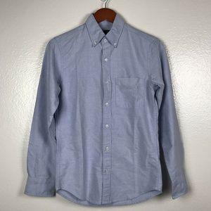 J Crew Factory Slim Flex Oxford Button Down Shirt